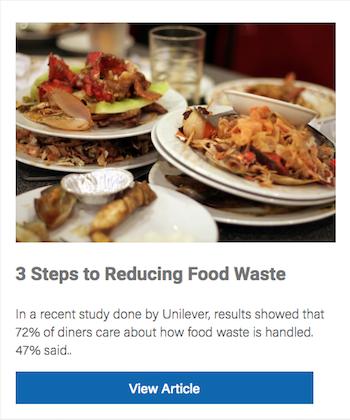 3 Steps to Reducing Food Waste