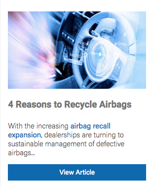 recycle airbags