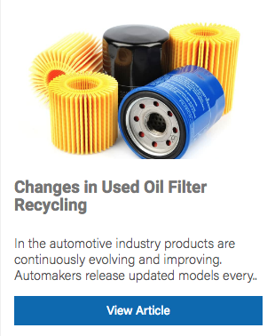 oil filter recycling law