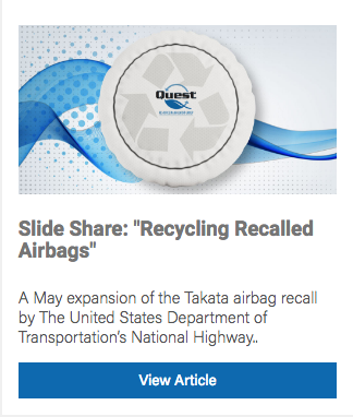 Recycling Recalled Airbags