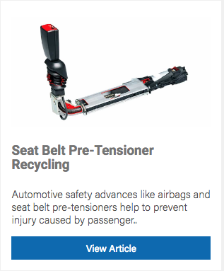 Recycling Seatbelt Pre-Tensioner